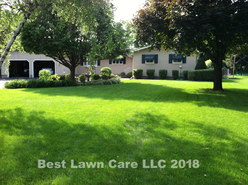 Residential fertilizing and weed control.