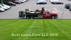 Commercial fertilizing and weed control.